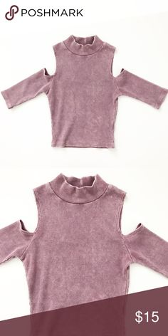 Purple crop top Purple crop top with shoulder cut off. Worn once. In great condition. Tops Crop Tops