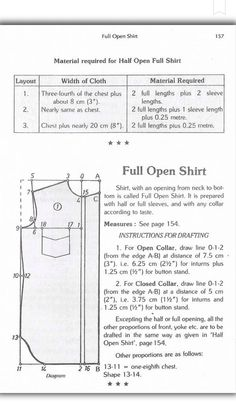 Zadakar Mens Shirt Pattern, Shirt Patterns, Sewing Clothes, Diy Clothes, Mens Sewing Patterns, Sewing Sleeves, Pattern Draping, Designs For Dresses, Fashion Design Sketches