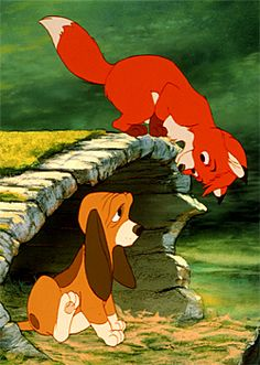 Image shared by Helga Couto Bannwart. Find images and videos about disney, fox and hound and o cão e a raposa on We Heart It - the app to get lost in what you love. Walt Disney, Disney Pixar, Disney Dogs, Disney And Dreamworks, Disney Animation, Disney Magic, Disney Art, Disney Stuff, Dreamworks Movies