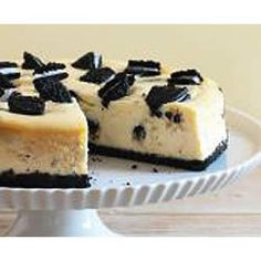 Easy PHILLY OREO Cheesecake Allrecipes.com  I made this and I hope it turns out good! I used a water bath instead of just putting it straight in the oven. And I didn't add the extra oreos on top. The water bath kept it form cracking and shrinking, so it came out pretty!
