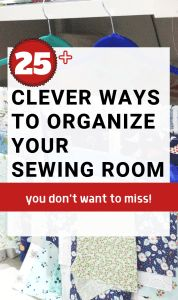 25 organizing ideas for sewing room - The Little Mushroom Cap: A Quilting Blog Sewing Room Design, Sewing Room Storage, Sewing Spaces, Sewing Room Organization, Craft Room Storage, Sewing Studio, Craft Rooms, Small Sewing Rooms, Bobbin Storage