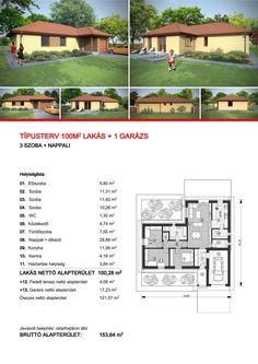 Szimetrik Kft - Családi ház építés Győr Magnolia, House Plans, Sweet Home, Floor Plans, How To Plan, Petra, Design, Home Decor, Ideas