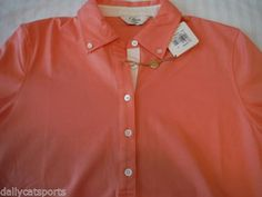 NWT-BOBBY-JONES-CLOVER-Golf-Designer-Polo-Shirt-Peach-Orange-Melon-Large-L-125