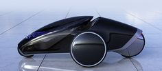 The Toyota is a study of a futuristic concept vehicle that ca be controlled by the driver by shifting his/her body weight, with the goal ofoffering a physical and emotional connection between the driver and the machine. Electric Car, Transportation Design, Latest Pics, Concept Cars, Futuristic, Automobile, Bike, Vehicles, Tecnologia