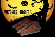 Caja Halloween Witch, Halloween, Night, Geek Crafts, Drawers, Hand Made, Witches, Witch Makeup, Wicked