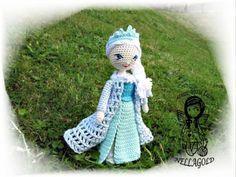 Ledová královna Elsa - návod 110 královna princezna holčička holka popis návod háčkovaná hračka postup návod na háčkování háčkovaná panenka háčkované návody nellagold instrukce