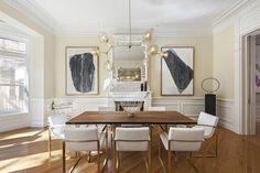 Dining Room - Modern Lighting - Park Slope - Brooklyn Townhouse - Real Estate