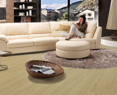 A laminate floor whose appearance matches its touch, completely natural. Gerbür Natural Varnished Oak is based on synchronisation technology which matches the surface structure with the relevant decor image. Even an expert would have trouble discerning the difference with a real wooden surface.  #Homedecoration #interiordesign #Dubai #UAE #Homedesigner#floorworldllc #room #stylish #roomdesign