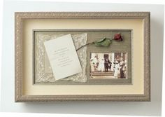 Shadow box is a box where you keep many memories there. To decorate it we have many variant shadow box ideas that could make it more interesting. Dog Shadow Box, Shadow Box Memory, Military Shadow Box, Memory Wall, Girl Shadow, Wedding Collage, Wedding Frames, Wedding Shadowbox, Wedding Keepsakes