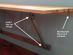 Butcher Block Wall Mounted Table (I like this in the laundry room for folding)