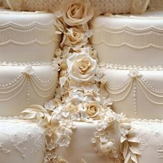 Only White! A Part Of Wedding Cake for the Royal Wedding of U.K.