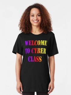"""""""Welcome to Cyber school class 2020"""" T-shirt #redbubbleartists Line Dance, Hip Hop Party, Vintage T-shirts, Vintage Design, Tenacious D, Geile T-shirts, Nashville Tennessee, Vintage Style Outfits, Slim Fit"""
