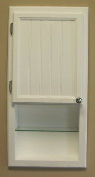 """(WC-430ws), 30""""h Recessed in wall bathroom medicine cabinet, with shelf, solid wood: Amazon.com: Home & Kitchen"""