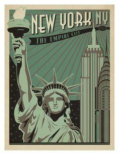 New York, New York, The Empire City Konsttryck