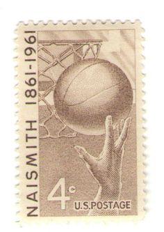 1961 Unused Vintage Postage Stamps - James Naismith, Basketball Inventor - 10 Unused US Postage Stamps    Type of Stamp: Commemorative  Scott