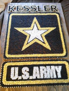 U.S. Army String Art with customers last name