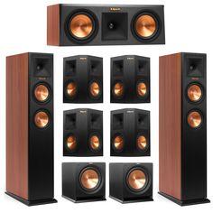 Klipsch 7.2 Cherry System with 2 RP-250F Tower Speakers, 1 RP-250C Center Speake #Klipsch