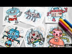 How To Draw Cute Robots - Easy and Kawaii Drawings by Garbi KW