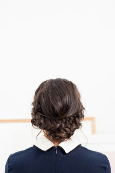 Easy Reverse Crown Braid in 15 Minutes