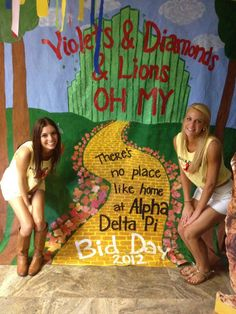 """Pearls, Lillies, and Giraffes OH MY!""<3 There is no place like Alpha Epsilon Phi :)"