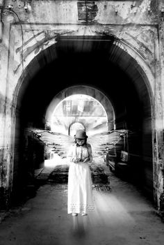 Angel #bw #photograph #angel #wings
