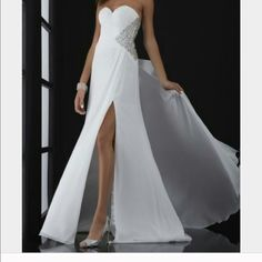NWT White Jasz Couture Prom Pageant Gown Never worn except to try on. Fits 4/6. Ships same day if bought before 4pm. Buy two dresses for 20% off both! Dresses Prom