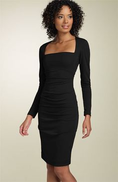 Nicole Miller Long Sleeve Matte Jersey Sheath Dress available at #Nordstrom