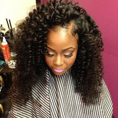 Curly Sew In Hairstyles Captivating Sew In Hairstyles For Black Women  Love This Celebrity Sew In