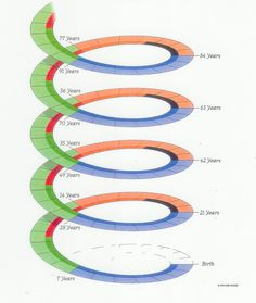 Cycles Of Human Life (Every Seven Years You Change) Human Life Cycle, Cycle Of Life, Sweet Home, Ale, Psychology, Yoga, Spiral, Birth, Easter