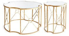Mayville Coffee & Side Table, Gold