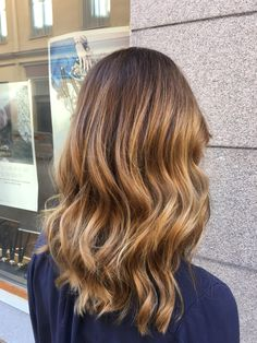 Balayage with warm copper tones. LOVE! - Colors of Wonderland by Alice