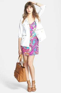 Velvet by Graham & Spencer Army Jacket, Lilly Pulitzer® Silk Slipdress  available at #Nordstrom