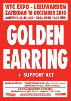 2010-12-18 Golden Earring show poster Leeuwarden.
