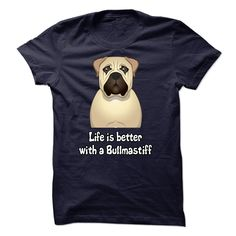 Life is better with a Bullmastiff T-Shirts, Hoodies. VIEW DETAIL ==► https://www.sunfrog.com/Pets/Life-is-better-with-a-Bullmastiff--K01.html?id=41382