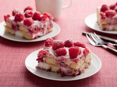 Raspberry Tiramisu from Giada de laurentis~ used ladyfingers- gets better as it sits!