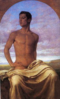 Portrait Nino Cesarini, 1904, by Paul Hoecker (German, 1854-1910)