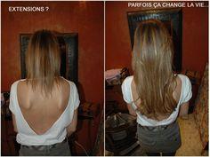 Gorgeous hair extensions before & after extensions  de cheveux longs par Amaryllis