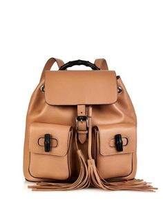 450be0c82d21 Gucci Bamboo Leather Backpack