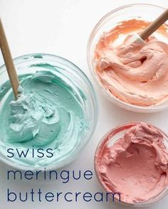 The all-purpose Swiss meringue buttercream has an ultra-silky, stable texture that spreads beautifully over cakes and cupcakes, and can be piped into perfect peaks and patterns. Cake Icing, Buttercream Frosting, Cupcake Cakes, Coffee Buttercream, Frosting Tips, Bon Ap, Colorful Desserts, Swiss Meringue Buttercream, Meringue Icing