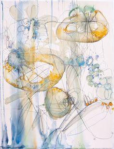 Alyn Carlson - Watercolor, graphite, chalkboard paint