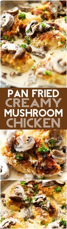 Pan-Fried Creamy Mushroom Chicken