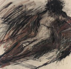 Frank Auerbach (British, b. 1931), Untitled, 1954. Pastel and charcoal on paper.