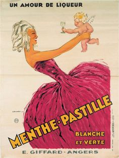 Giffard's Poster - 1931 « La dame à la robe rose et l'Angelot », poster created by Dransy