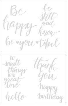 Practice Writing Words in Brush Lettering with Free Worksheets from Destination Decoration