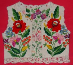 FolkCostume&Embroidery: Costume of Kalocsa, Bács-Kiskun county, Hungary