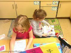 puppets - reading appropriate leveled texts in kindergarten KindergartenWorks
