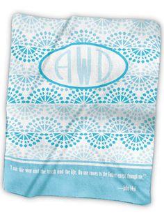 Monogram 5 Fleece Blanket