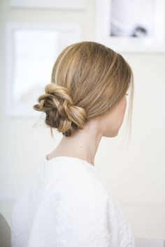 You don't have to be a bride to rock this lovely look -- stylist Erica Rae shows us her secrets to creating an elegant low updo.