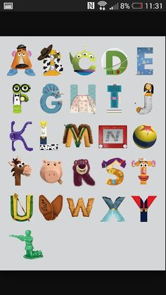 Toy Story letters
