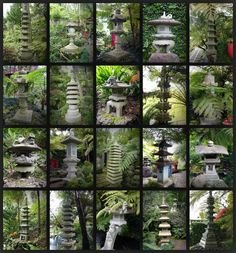Japanese stone lanterns in Monte Palace Tropical Garden, Madeira